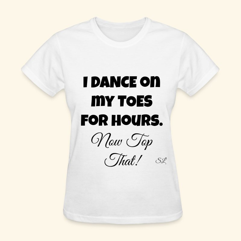 Pointe Ballet Dance T-shirt by Stephanie Lahart  - Women's T-Shirt