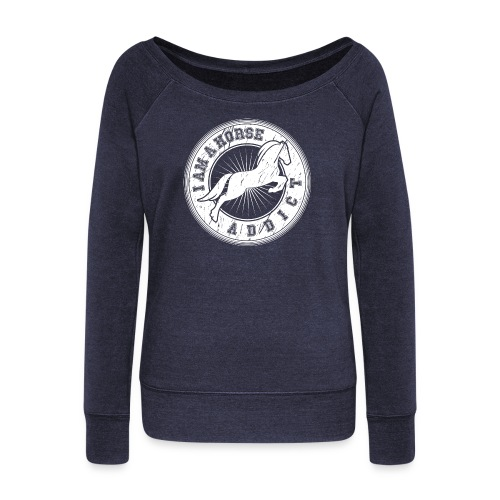 Women's Wideneck Sweatshirt - kisses,horse t-shirts,horse clothes,horse,gifts for horse person,gifts for horse people,equine clothing,equestrian wear,equestrian gear