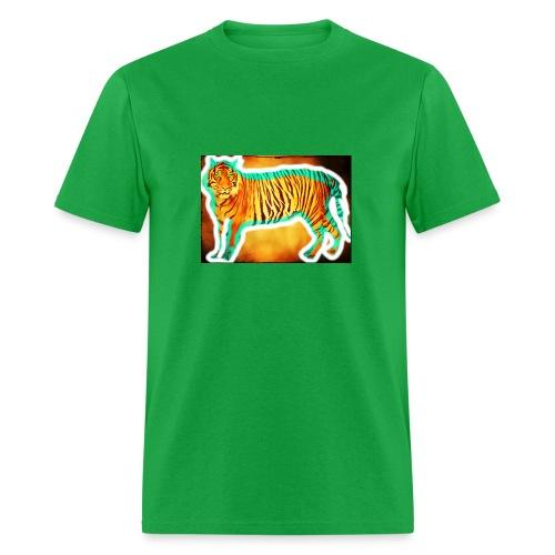 blue white tiger kids t shirt - Men's T-Shirt