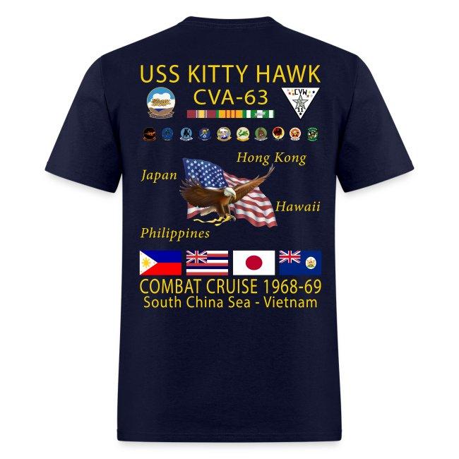 USS KITTY HAWK CVA-63 COMBAT CRUISE 1968-69 CRUISE SHIRT