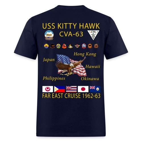 USS KITTY HAWK CVA-63 FAR EAST CRUISE 1962-63 CRUISE SHIRT - Men's T-Shirt