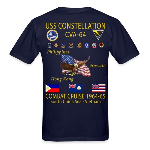 USS CONSTELLATION CVA-64 COMBAT CRUISE 1964-65 CRUISE SHIRT - Men's T-Shirt
