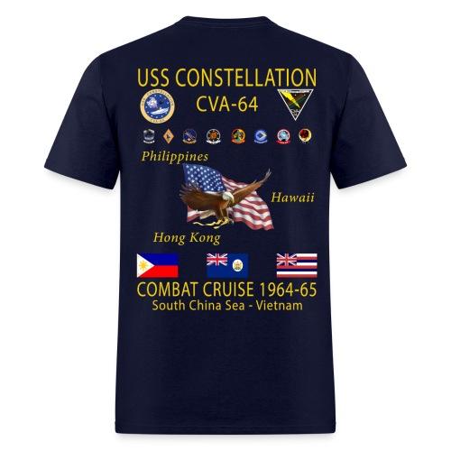USS CONSTELLATION CVA-64 COMBAT CRUISE 1964-65 CRUISE SHIRT - Men's T-Shirt