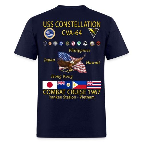 USS CONSTELLATION CVA-64 COMBAT CRUISE 1967 CRUISE SHIRT - Men's T-Shirt