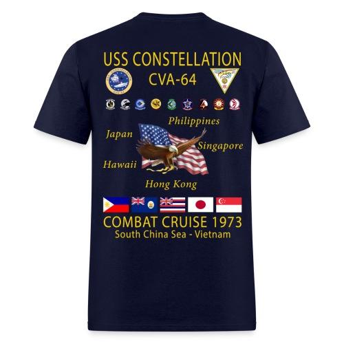 USS CONSTELLATION CVA-64 COMBAT CRUISE 1973 CRUISE SHIRT - Men's T-Shirt