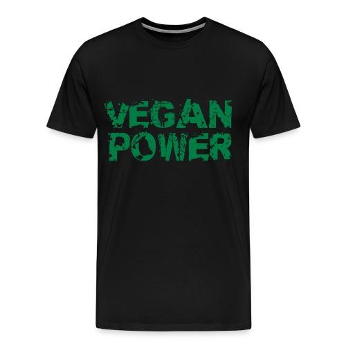 Vegan Power Tee - Men's Premium T-Shirt