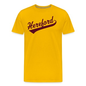 Hereford Script Yellow - Men's Premium T-Shirt