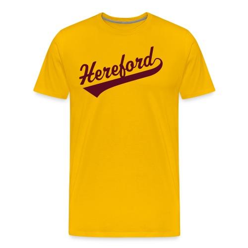 Hereford Script Yellow - Men's Premium T-Shirt
