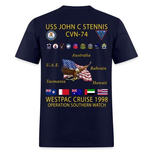 USS JOHN C STENNIS 1998 CRUISE SHIRT - Men's T-Shirt