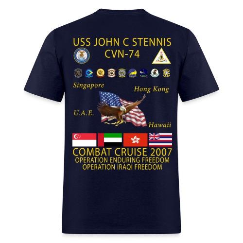 USS JOHN C STENNIS 2007 CRUISE SHIRT - Men's T-Shirt