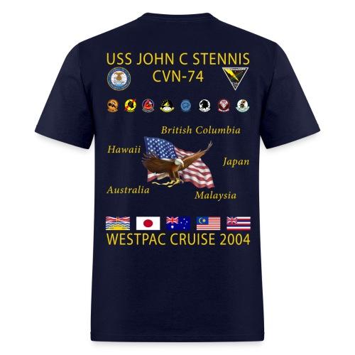 USS JOHN C STENNIS 2004 CRUISE SHIRT - Men's T-Shirt