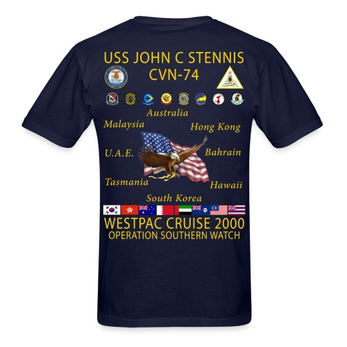 USS JOHN C STENNIS 2000 CRUISE SHIRT - Men's T-Shirt