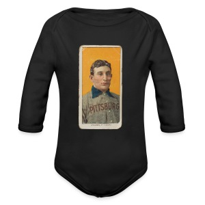 Wagner Baseball Card T-206 Men Premium Tee - Long Sleeve Baby Bodysuit