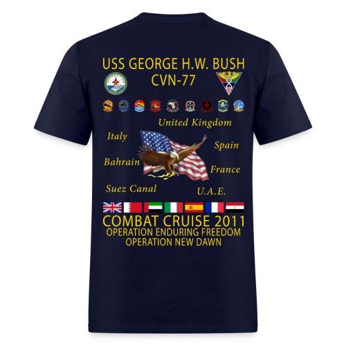 USS GEORGE HW BUSH 2011 COMBAT CRUISE SHIRT - Men's T-Shirt