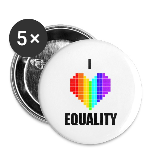 I Heart Equality Button - Large Buttons