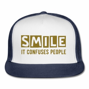 Smile, It Confuses People Trucker Hat - Trucker Cap