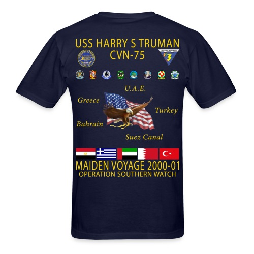 USS HARRY S TRUMAN 2000-01 MAIDEN CRUISE SHIRT - Men's T-Shirt