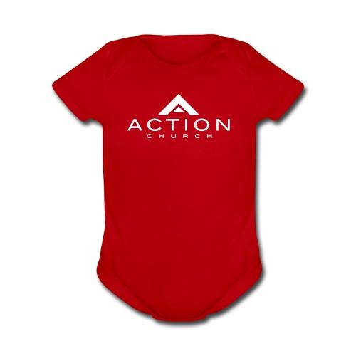 Action    - Organic Short Sleeve Baby Bodysuit