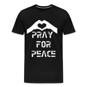 Pray For Peace Mens Tee - Men's Premium T-Shirt
