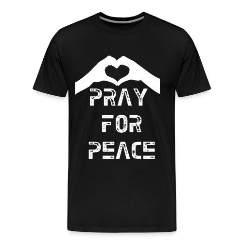 Pray For Peace Mens Tee - Men's Premium T-Shirt