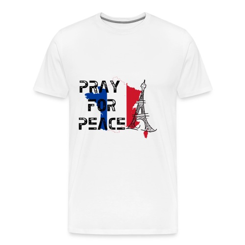 Pray For Peace France Mens Tee - Men's Premium T-Shirt
