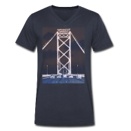 T-Shirts ~ Men's V-Neck T-Shirt by Canvas ~ Ambassador Bridge