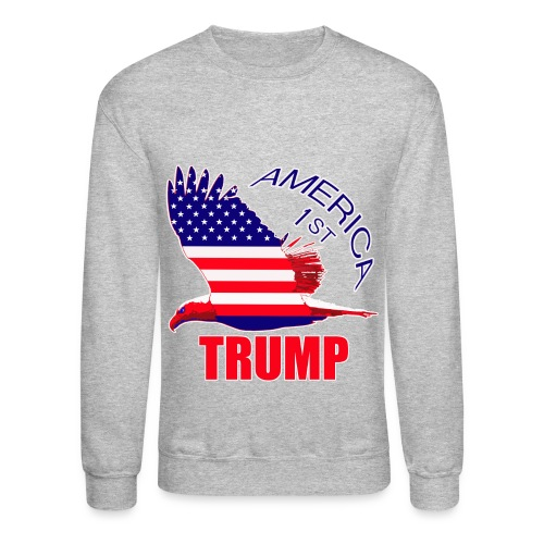 Trump America First Eagle - Crewneck Sweatshirt