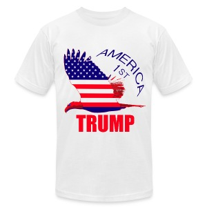 Trump America First Eagle - Men's T-Shirt by American Apparel