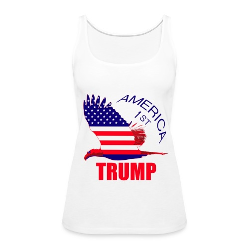 Trump America First Eagle - Women's Premium Tank Top