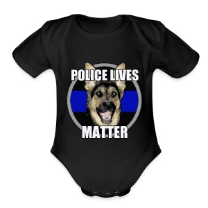 Police lives matter - Short Sleeve Baby Bodysuit