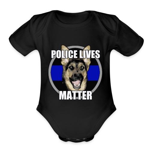 Police lives matter - Organic Short Sleeve Baby Bodysuit