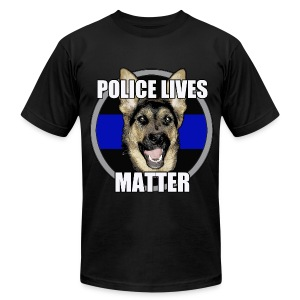 Police lives matter - Men's T-Shirt by American Apparel