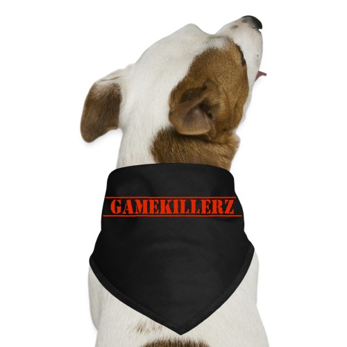 Black dog bandana w/ Red Logo - Dog Bandana