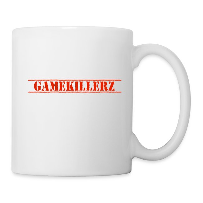 White Coffee Cup w/ Red Logo