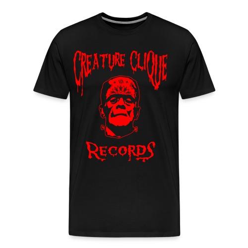 Creature Clique Records Shirt - Frank Logo - Red - Men's Premium T-Shirt