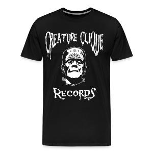 Creature Clique Records Shirt - Frank Logo - White - Men's Premium T-Shirt