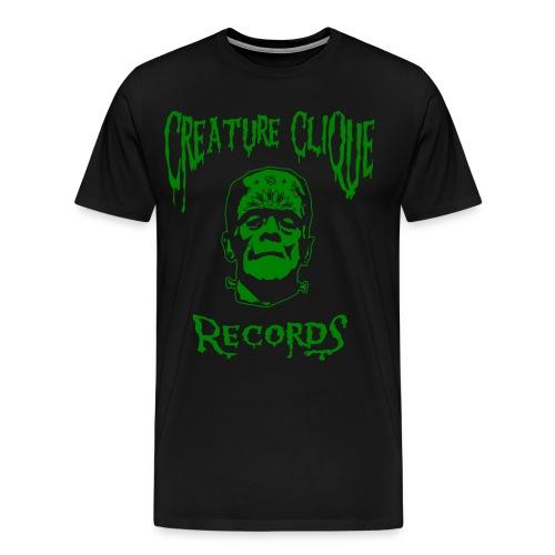 Creature Clique Records Shirt - Frank Logo - Green - Men's Premium T-Shirt