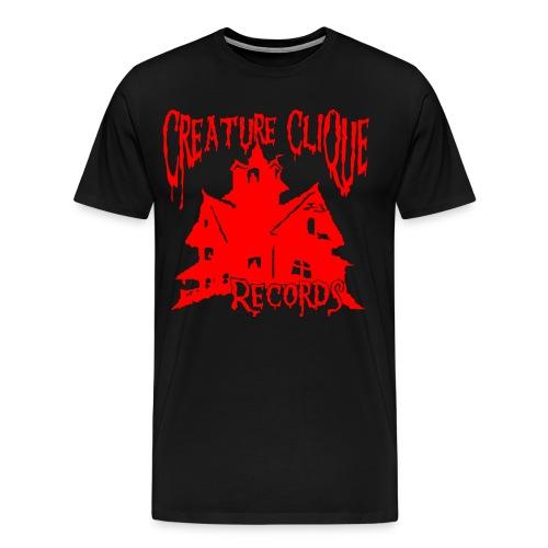 Creature Clique Records Shirt - House Logo - Red - Men's Premium T-Shirt