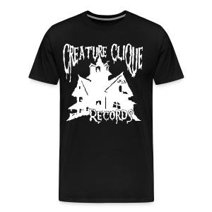 Creature Clique Records Shirt - House Logo - White - Men's Premium T-Shirt