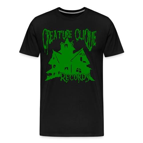 Creature Clique Records Shirt - House Logo - Green - Men's Premium T-Shirt