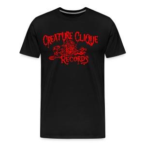 Creature Clique Records Shirt - Zombie Logo - Red - Men's Premium T-Shirt