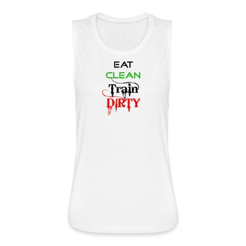 Eat Clean Ladies Muscle Top - Women's Flowy Muscle Tank by Bella