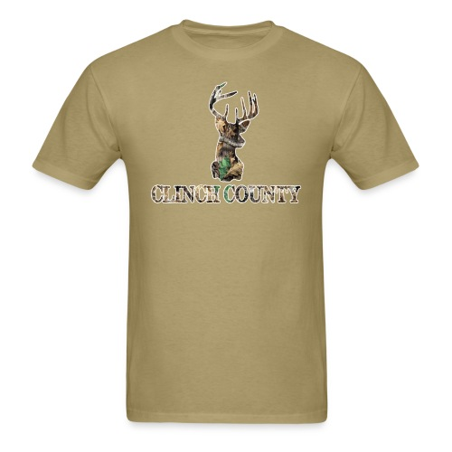 Clinch County Khaki - Men's T-Shirt