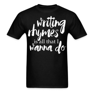 Writing Rhymes Men's Tee - Men's T-Shirt