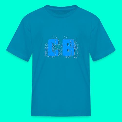 CB Logo Aqua Blue Kid's T-Shirt - Kids' T-Shirt