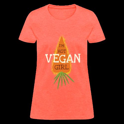 I'm Hot Vegan Girl T-Shirt - Women's T-Shirt