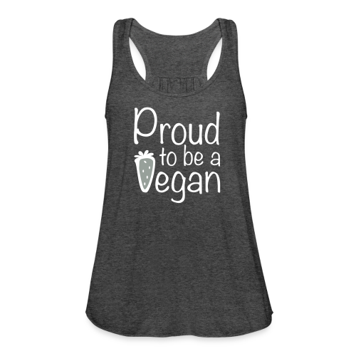 Proud Vegan Flowy Tank Top - Women's Flowy Tank Top by Bella