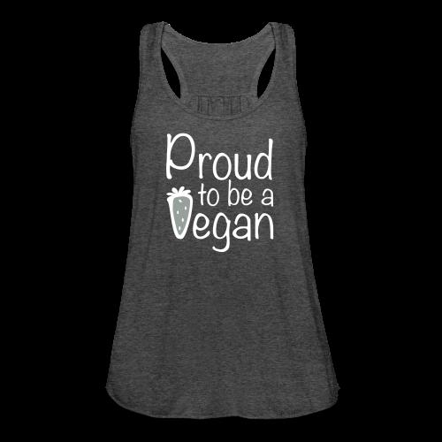 Proud Vegan Flowy Tank Top - Women's Flowy Tank Top by Bella