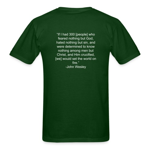 Set The World on Fire- With Quote - Men's T-Shirt