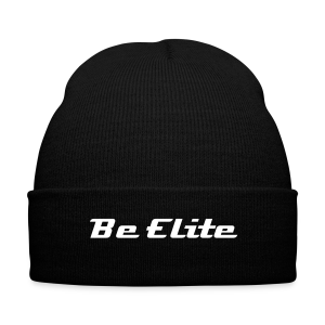 Be Elite Beanie - Knit Cap with Cuff Print